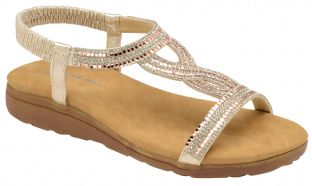 Dunlop Womens DLP029 Cynthia Rose Gold Sandals